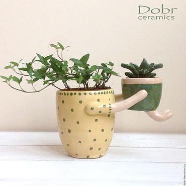 Flowers and floristry handmade. Livemaster - original item Ceramic planter Mother and child. Handmade.