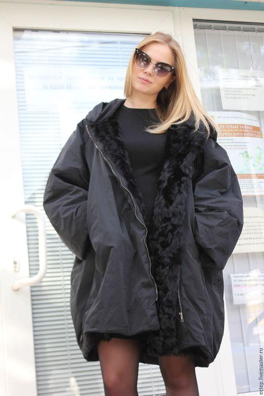 """Верхняя одежда ручной работы. Ярмарка Мастеров - ручная работа. Купить Пальто на меху """"Кокон"""". Handmade. Подарок девушке"""