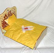 Кроватка для большой куклы + набор постельного белья