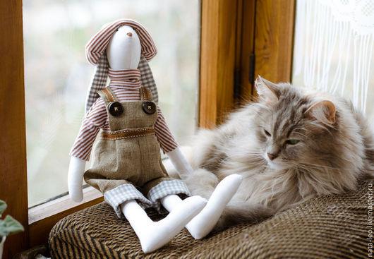 Куклы Тильды ручной работы. Ярмарка Мастеров - ручная работа. Купить Кролик. Handmade. Коричневый, тильда заяц, текстильная кукла