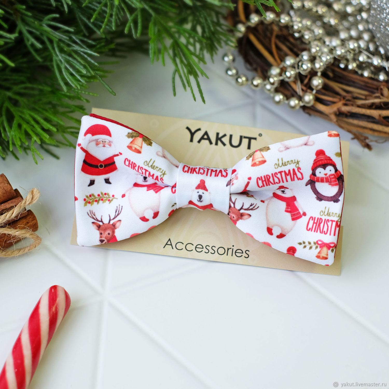Рождественская бабочка галстук - Оригинальный подарок на Новый год, Галстуки, Ижевск,  Фото №1