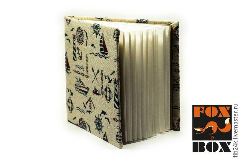 """ручной работы. Ярмарка Мастеров - ручная работа. Купить Скетчбук """"Морской"""". Handmade. Бежевый, блокнот, скетбук, картон"""