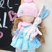 """Куклы и игрушки ручной работы. Ярмарка Мастеров - ручная работа Интерьерная текстильная кукла """"Зефирная малышка"""". Handmade."""