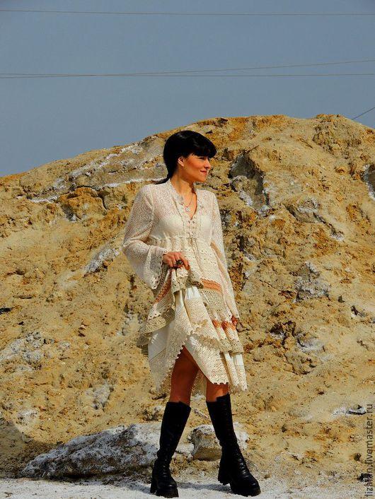 платье бохо, платье крючком, платье летнее, платье вязаное, бохо, стиль бохо, бохо стиль,