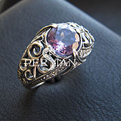 Украшения handmade. Livemaster - original item Silver ring with amethyst