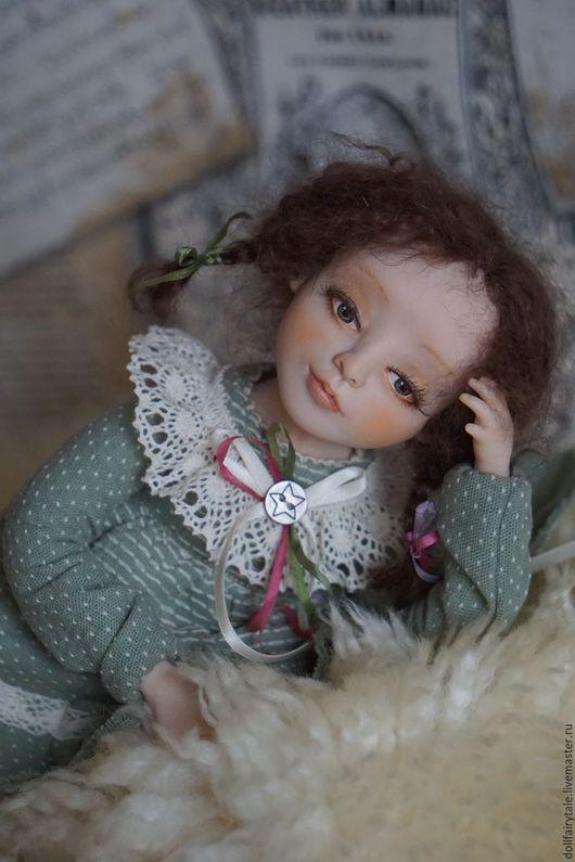 Коллекционные куклы ручной работы. Ярмарка Мастеров - ручная работа. Купить Зоя. Handmade. Мятный, купить подарок, куколка, синдепон