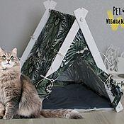 Для домашних животных, handmade. Livemaster - original item House for cats and dogs