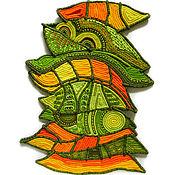 """Картины и панно ручной работы. Ярмарка Мастеров - ручная работа панно """"Листья"""". Handmade."""