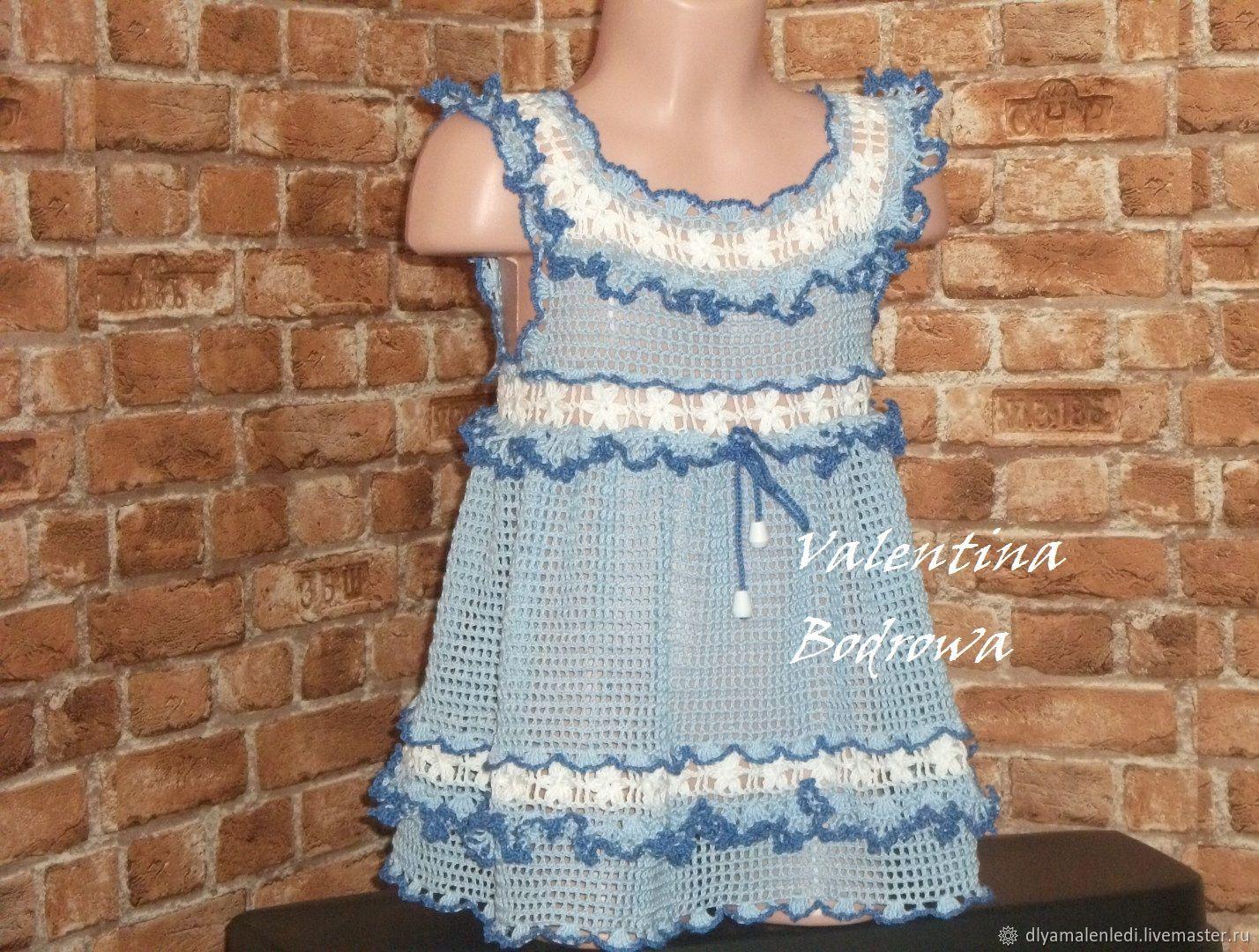 Ropa para chicas manualidades. Livemaster - hecho a mano. Comprar Vestido de vyazannoe de ganchillo para niñas. Handmade