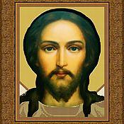 """Схемы для вышивки ручной работы. Ярмарка Мастеров - ручная работа Премиум набор вышивки бисером """"Иисус Христос"""" 30х40. Handmade."""