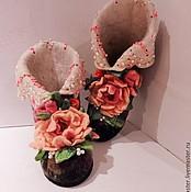 """Обувь ручной работы. Ярмарка Мастеров - ручная работа Тапочки домашние """"Для Принцессы"""". Handmade."""
