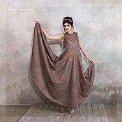 Одежда ручной работы. Ярмарка Мастеров - ручная работа The Pink Ash Dress. платье из мериносовой шерсти и шелка. Handmade.