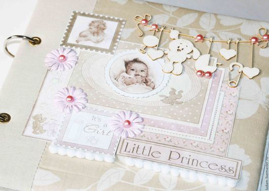 Персональные подарки ручной работы. Ярмарка Мастеров - ручная работа. Купить Фотоальбом для девочки, дневник мамы, дневник беременности. Handmade.