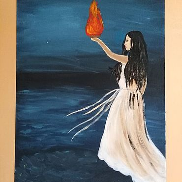 Картины и панно ручной работы. Ярмарка Мастеров - ручная работа Ахтамар. Картина на холсте 30х40 см. Handmade.