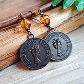 Украшения handmade. Livemaster - original item Amber. Queen earrings amber blackened copper. Handmade.