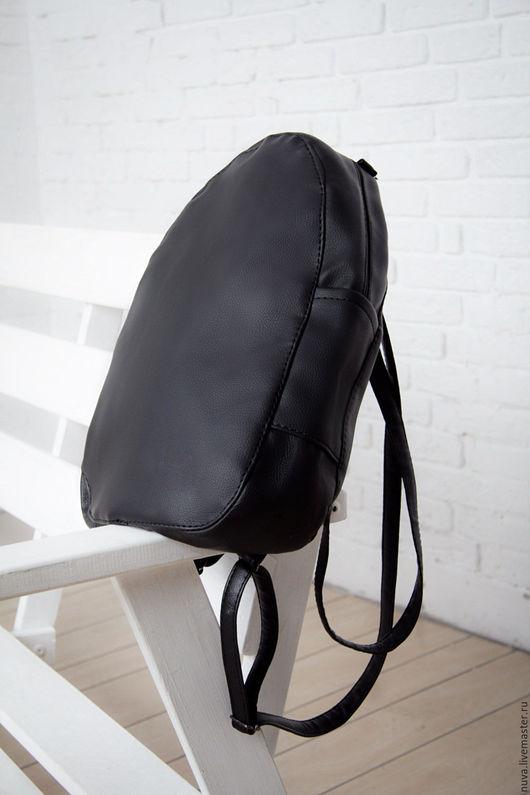 Рюкзаки ручной работы. Ярмарка Мастеров - ручная работа. Купить Рюкзак черный матовый. Handmade. Черный, черный рюкзак