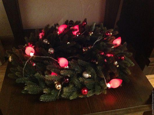 Комплекты аксессуаров ручной работы. Ярмарка Мастеров - ручная работа. Купить Рождественский венок. Handmade. Тёмно-зелёный, новогодний декор
