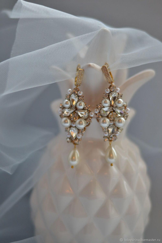 Earrings for bride, Earrings, St. Petersburg,  Фото №1