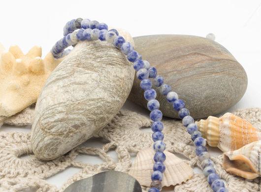 Для украшений ручной работы. Ярмарка Мастеров - ручная работа. Купить Содалит бусины шар 5мм - арт.1-15. Handmade.