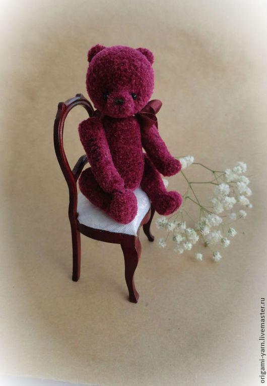 Мишки Тедди ручной работы. Ярмарка Мастеров - ручная работа. Купить Mr. Че. Handmade. Бордовый, мини мишки, синтепух