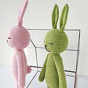 Куклы и игрушки handmade. Livemaster - original item Long-legged hares - boy and girl.. Handmade.