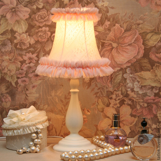 """Освещение ручной работы. Ярмарка Мастеров - ручная работа. Купить Настольная лампа """"Кокетка"""". Handmade. Настольная лампа, интерьер, Декор"""