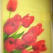 """Материалы для творчества ручной работы. Ярмарка Мастеров - ручная работа """"Тюльпаны"""", органайзер для спиц и крючков. Handmade."""