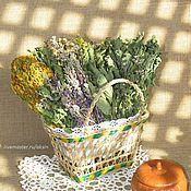 Для дома и интерьера ручной работы. Ярмарка Мастеров - ручная работа Набор трав в плетеной корзинке. Handmade.