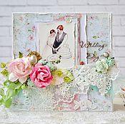 Свадебный салон ручной работы. Ярмарка Мастеров - ручная работа Свадебная открытка Wedding Day. Handmade.