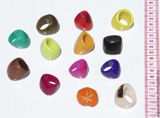 Кольца ручной работы. Ярмарка Мастеров - ручная работа. Купить Кольца однотонные из ореха тагуа, разные цвета и размеры. Handmade.
