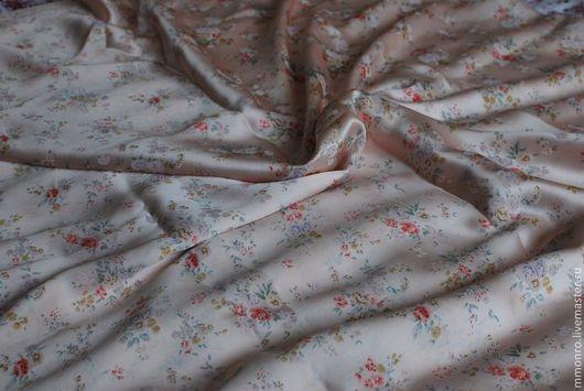 Шитье ручной работы. Ярмарка Мастеров - ручная работа. Купить Ткань натуральный шелк мелкий рисунок. Handmade. Ткань