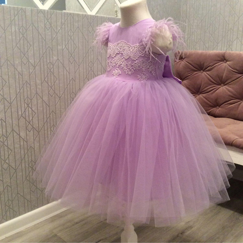 Платье для девочки нарядное Готовая работа, Одежда, Ярославль,  Фото №1