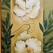 """Аксессуары ручной работы. Ярмарка Мастеров - ручная работа Шарф-батик  """"Белые орхидеи"""". Handmade."""