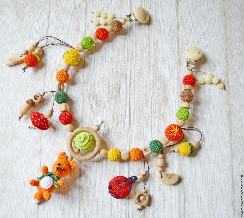 Можжевеловая Растяжка в коляску- развивающая игрушка, Козырек для коляски, Санкт-Петербург,  Фото №1