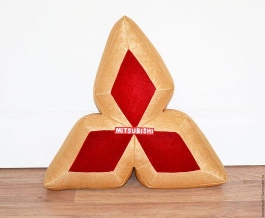 Автомобильные ручной работы. Ярмарка Мастеров - ручная работа. Купить подушка-логотип Королевская Mitsubishi. Handmade. Эксклюзив, новинка