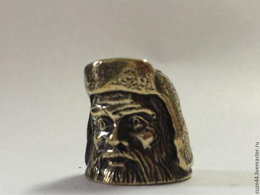 Миниатюрные модели ручной работы. Ярмарка Мастеров - ручная работа. Купить Наперсток Мужик в шапке-ушанке. Handmade. Литье