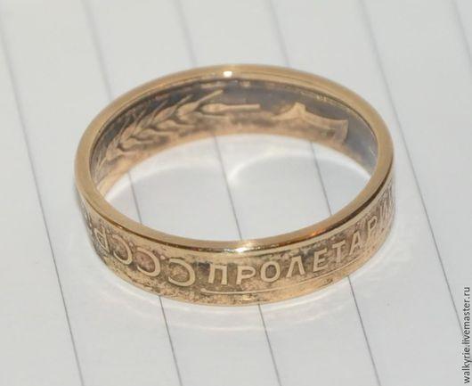 Кольца ручной работы. Ярмарка Мастеров - ручная работа. Купить Кольцо из монеты. Советские три копейки. Размер 18.1 мм. Handmade.