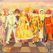 Картины и панно ручной работы. Ярмарка Мастеров - ручная работа Венецианский карнавал. Handmade.