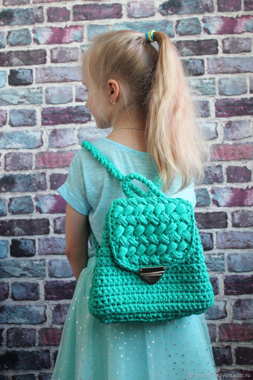 bbc1c5245c7c Рюкзаки ручной работы. Ярмарка Мастеров - ручная работа. Купить Детский  рюкзак из трикотажной пряжи ...