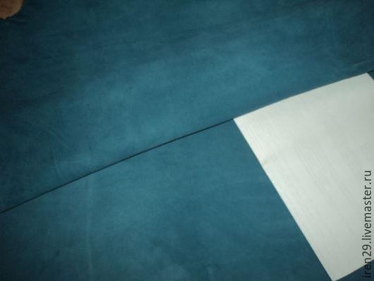 """Шитье ручной работы. Ярмарка Мастеров - ручная работа. Купить Натуральная замша """"Насыщенный голубой. Handmade. Кожа, материалы для творчества"""