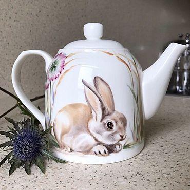Посуда ручной работы. Ярмарка Мастеров - ручная работа Уютный заяц. Handmade.