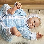 Работы для детей, ручной работы. Ярмарка Мастеров - ручная работа Комбинезон для новорожденных из хлопка Букле. Handmade.