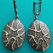 Украшения handmade. Livemaster - original item Earrings silver gold plated