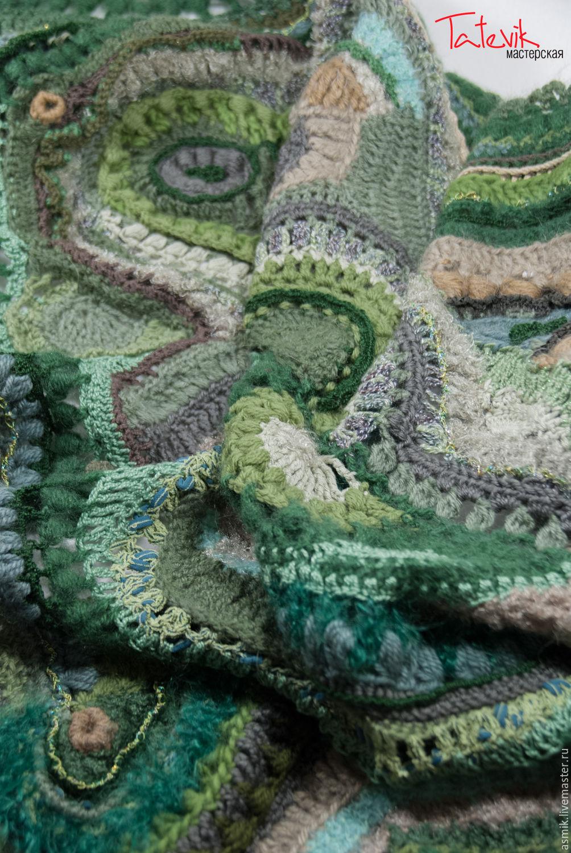 Shawl crochet'Forest fog '. copyright friform, Shawls, Moscow,  Фото №1