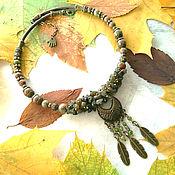 Украшения handmade. Livemaster - original item Set Heather honey. Handmade.