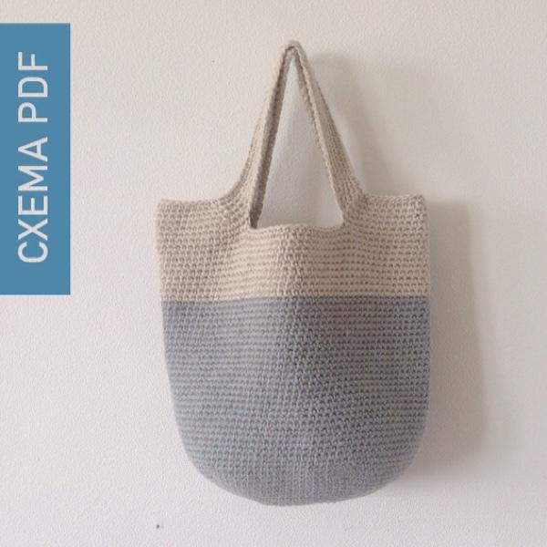 Купить Вязаная крючком сумка