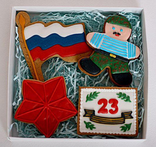 Кулинарные сувениры ручной работы. Ярмарка Мастеров - ручная работа. Купить Военный набор печенья к 23 февраля. Handmade.