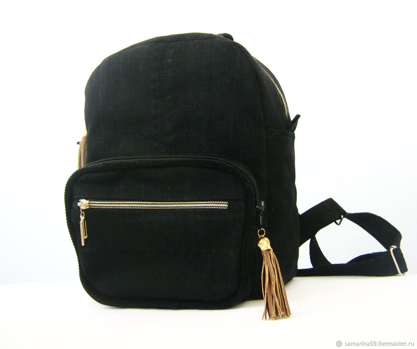 Backpack womens urban denim black casual, Backpacks, Gelendzhik,  Фото №1
