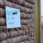 Картины и панно ручной работы. Ярмарка Мастеров - ручная работа доска для записей панно из пробок шампанского. Handmade.