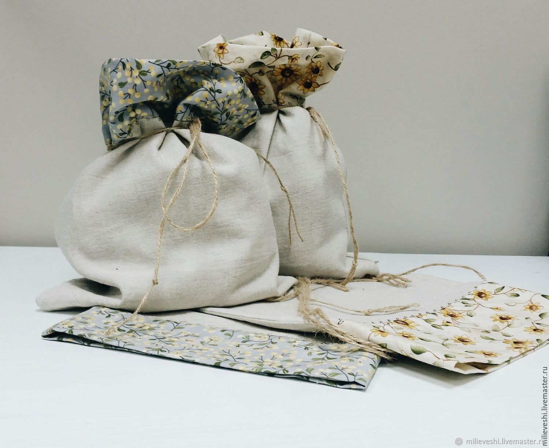 Storage bag, linen, Jars, Ivanovo,  Фото №1